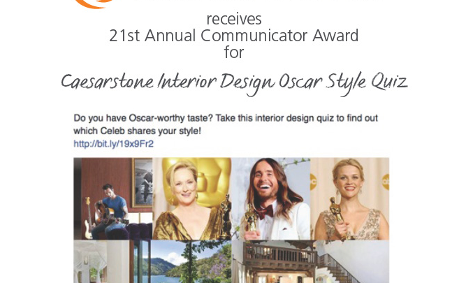 Caesarstone Wins Big with Interior Design Oscar-Style Quiz